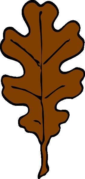 282x589 Brown Oak Leaf Clip Art