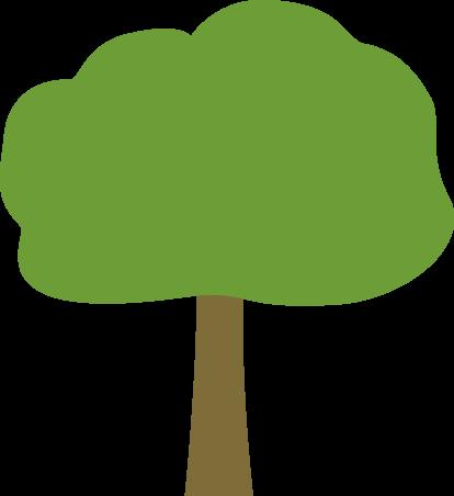 414x452 Brown Clipart Oak Tree