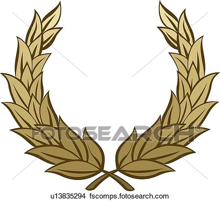 450x411 Clipart Of Brown Leaf Branches U13835294