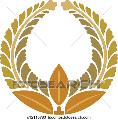 450x459 Clipart Of Yellow, Brown And Gold Leaf Round Frame U12115780