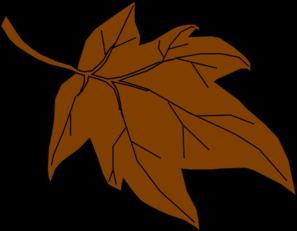 297x231 Brown Autumn Leaf Clip Art