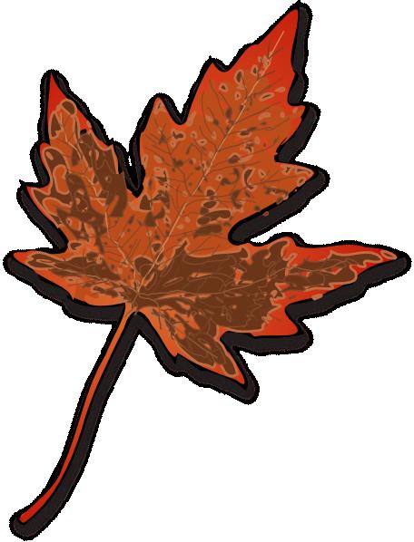 456x598 Brown Fall Leaf Clip Art