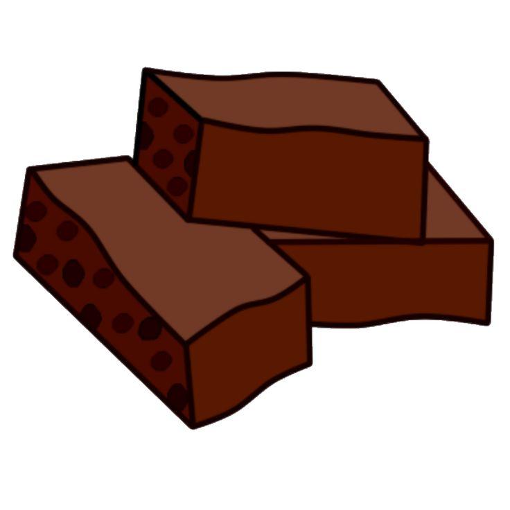 736x736 Brownie Clipart Chocolate Brownie