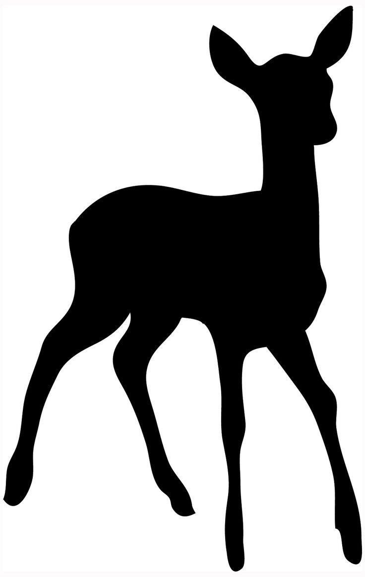 736x1164 Deer Family Silhouette Clip Art