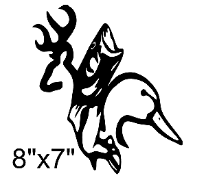 300x266 Buckduckfish Decalsticker, Browning,deer Hunting,bow, Ebay