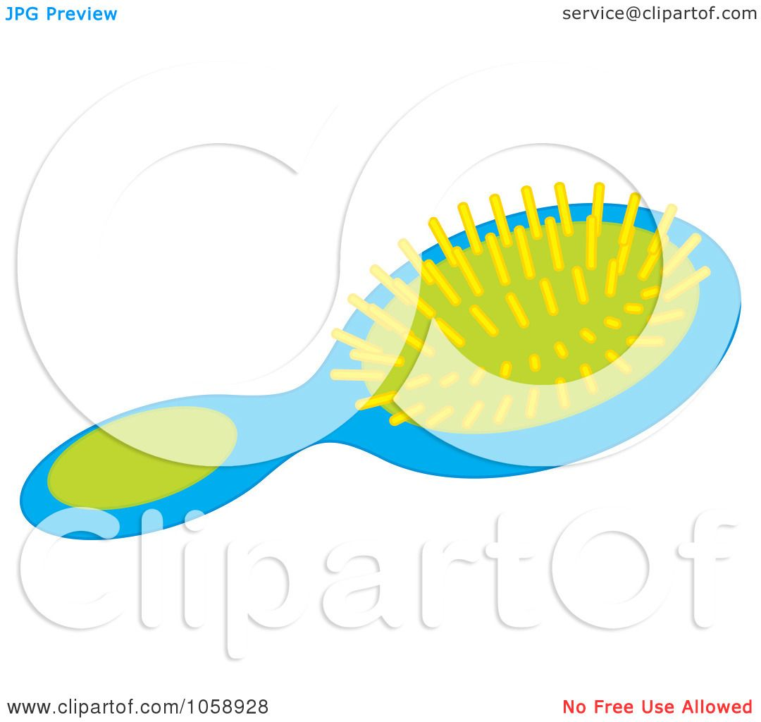 1080x1024 Royalty Free Vector Clip Art Illustration Of A Hair Brush By Alex