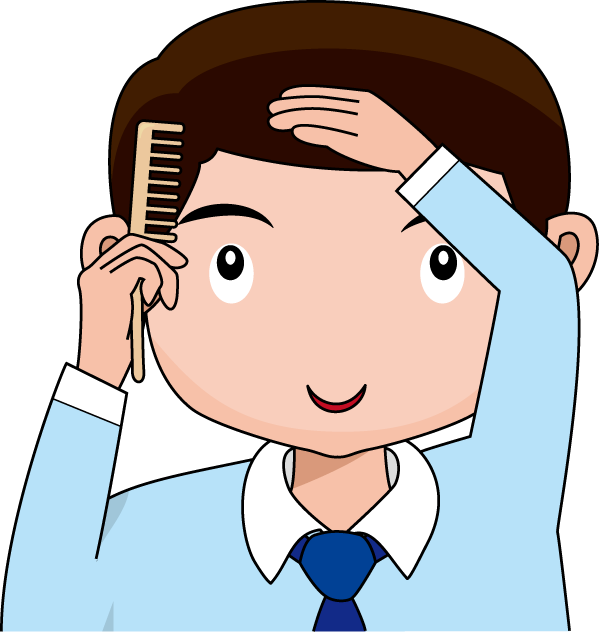 600x633 Brush Your Hair Clipart