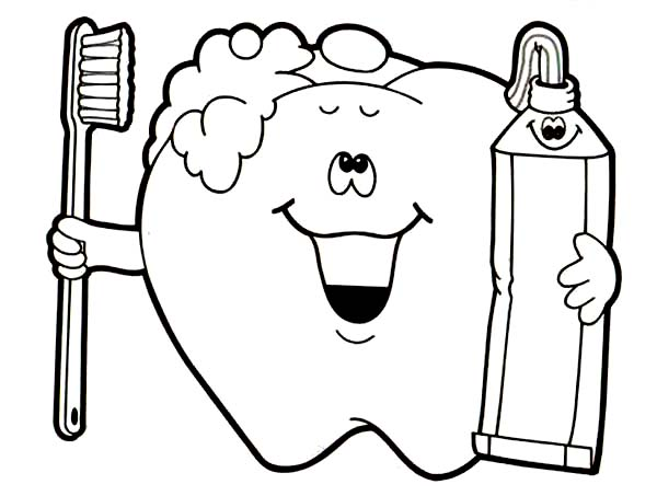 Brush Your Teeth Pictures Free Download Best Rhclipartmag: Cartoon Tooth Coloring Pages At Baymontmadison.com