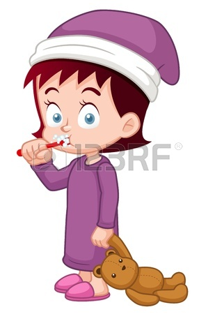 309x450 Young Girl Brushing Her Teeth Royalty Free Cliparts, Vectors,