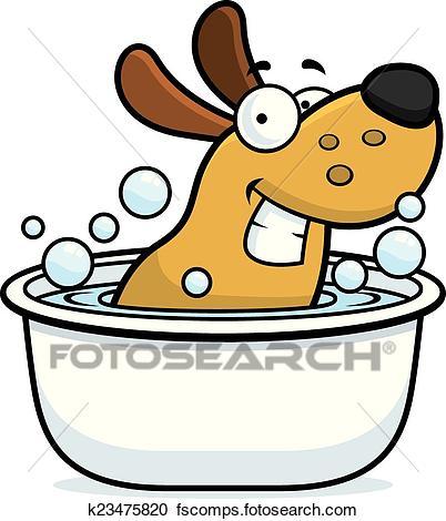 402x470 Dog Bath Clipart And Illustration. 864 Dog Bath Clip Art Vector