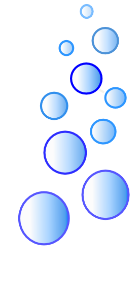 276x589 More Blue Bubbles Clip Art