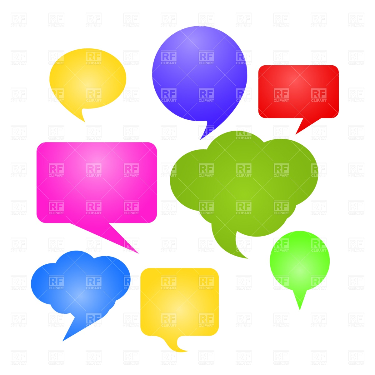 1200x1200 Speech Bubble Icons Royalty Free Vector Clip Art Image