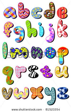 Bubble Letters Cliparts