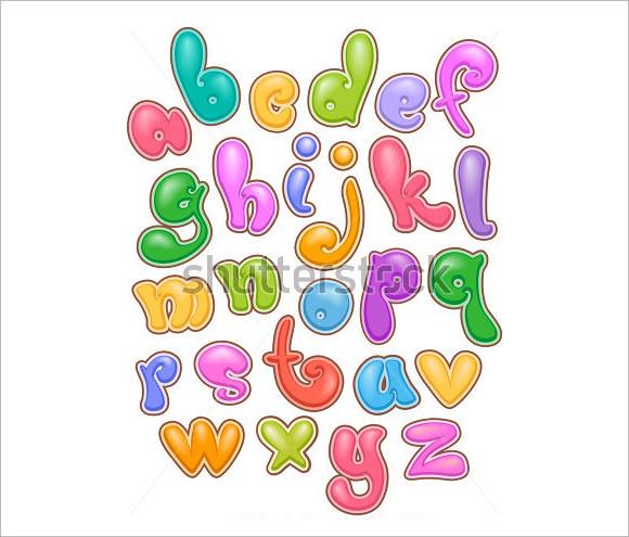 580x495 30 alphabet bubble letters
