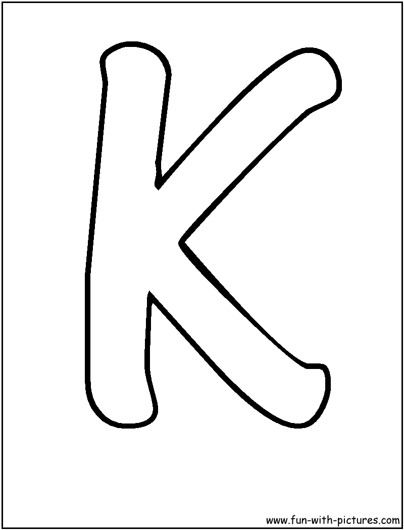 800x1050 Letter K Clipart Black And White