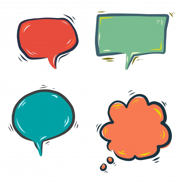 626x626 Hand drawn colorful speech bubbles Vector Free Download