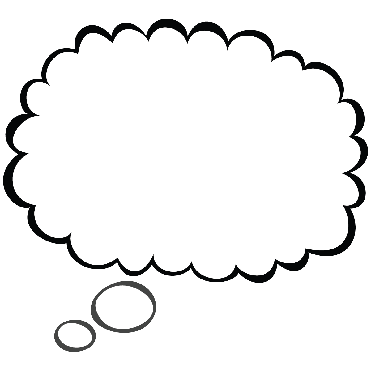 1200x1200 Thought bubble thought and speech bubbles clip art 2