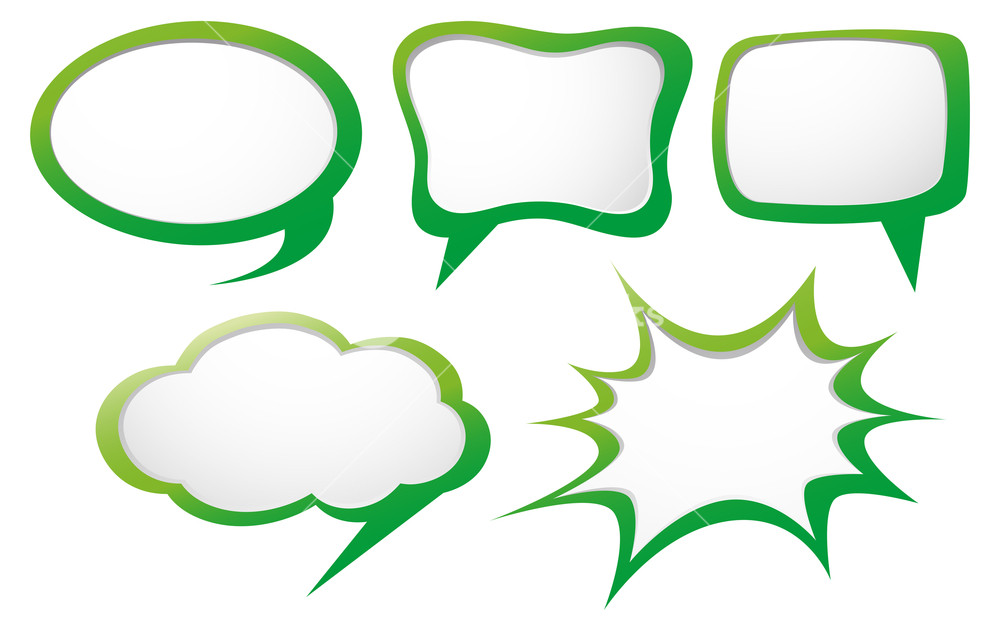 1000x631 Speech Bubble Template With Green Frame Illustration Royalty Free
