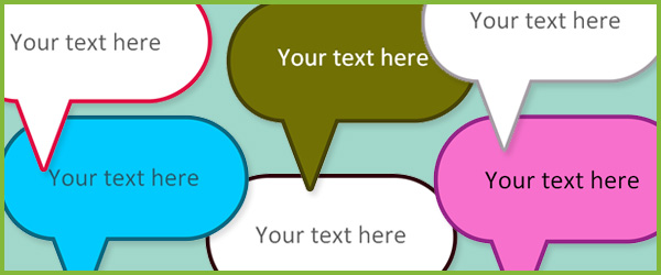 600x250 Editable Speech Bubbles Free Early Years Amp Primary Teaching