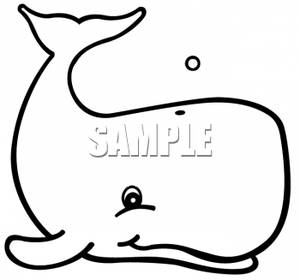 300x280 Free Clipart Image Black And White Whale Blowing Bubbles