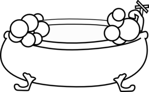 299x186 Bathtub With Bubbles Clip Art