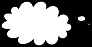 296x153 White Thought Bubble Clip Art