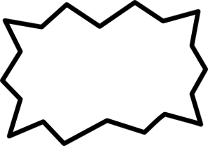 296x207 White Amp Black Bubble Clip Art