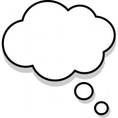 400x400 Thought Bubble Thought And Speech Bubbles Clip Art Image 2
