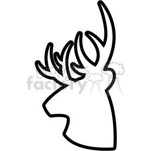 300x300 Royalty Free Side Outline Buck Deer Illustration Logo Vector