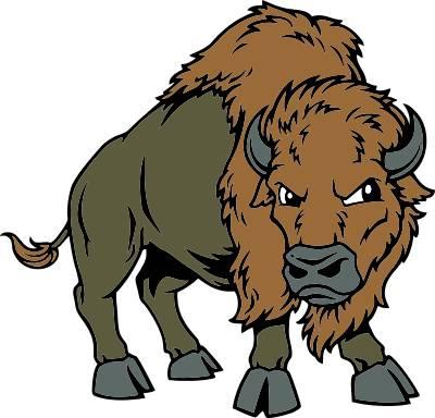 400x384 Buffalo Mascot Clipart Kid