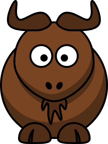 444x594 Cartoon Gnu Clip Art