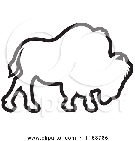 450x470 Free Bison Clipart