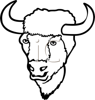 332x350 Royalty Free Bison Clip Art, Buffalo Clipart