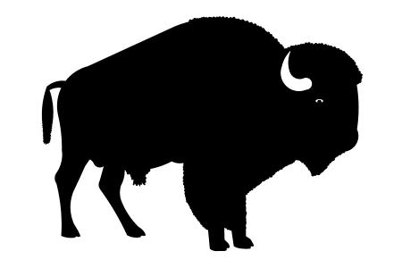 Buffalo Silhouette Clipart | Free download best Buffalo ...