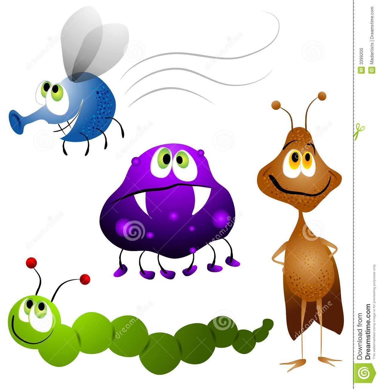 1272x1300 Cartoon Insect Clipart