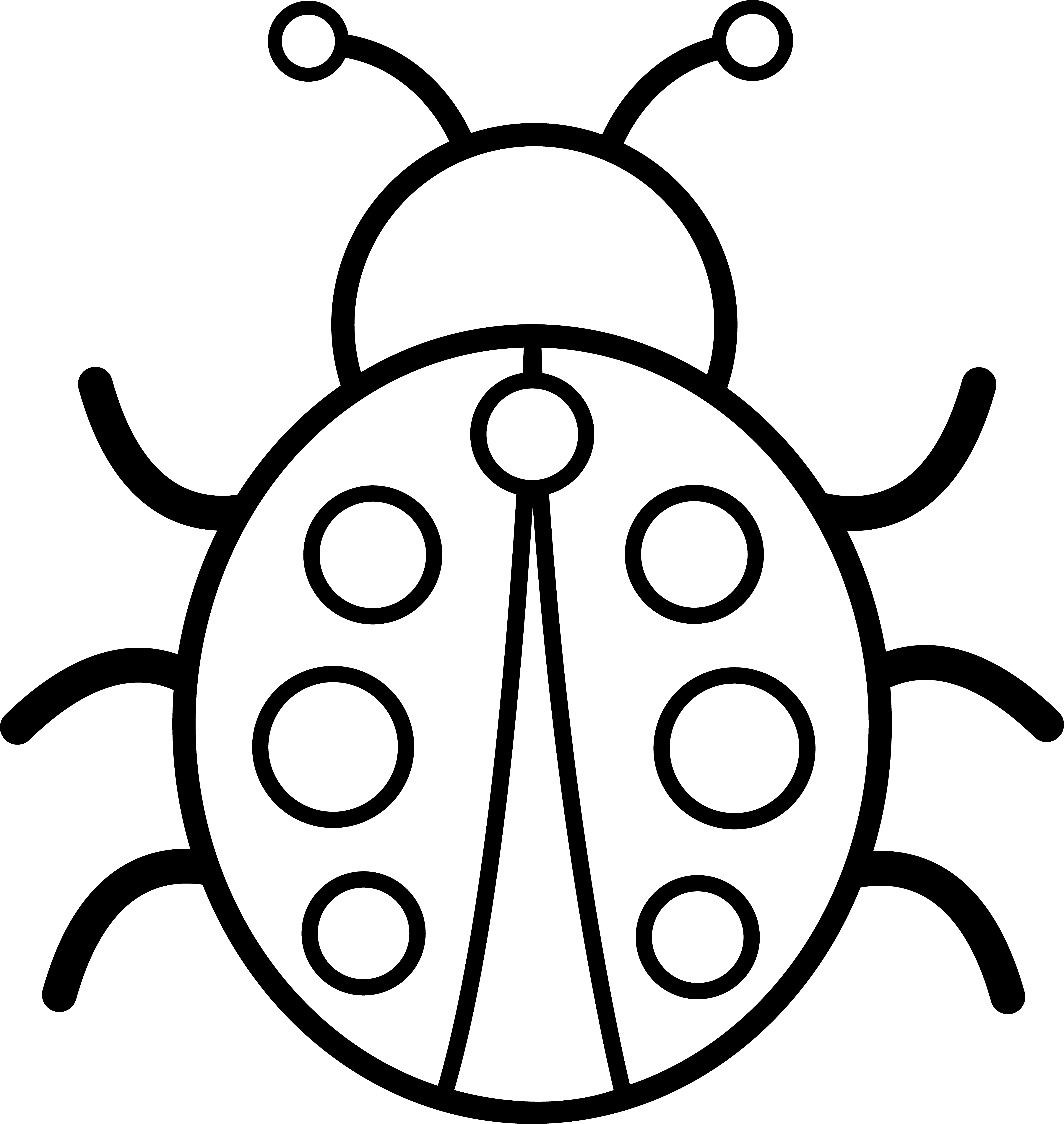 5729x6049 Bugs Clipart Black And White