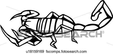 450x217 Clip Art Of , Animal, Bugs, Ocean, Scorpion, U18159169
