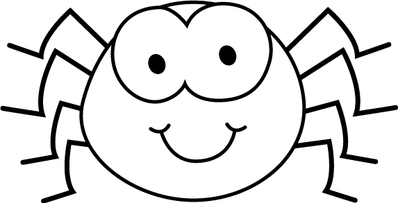 573x293 Bug Eye Smile Black And White Clipart