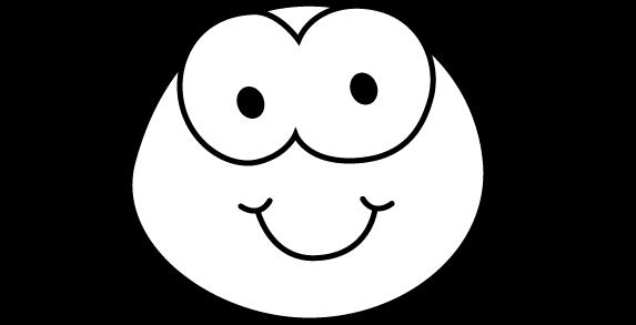 573x293 Bug Eye Smile Black And White Clipart