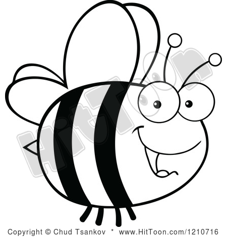 450x470 Black And White Bee