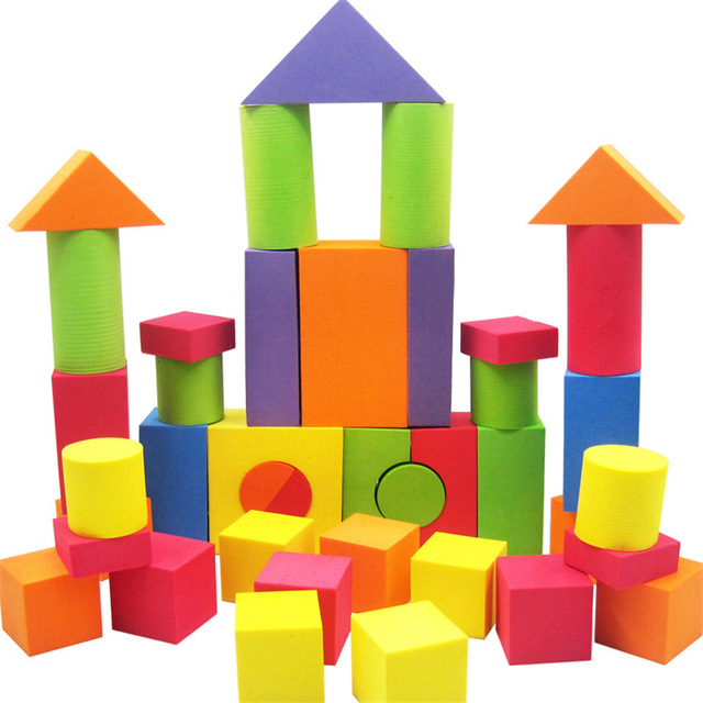 640x640 42 Pcs Kid Eva Safe Foam Assemblage Building Blocks Soft Brick