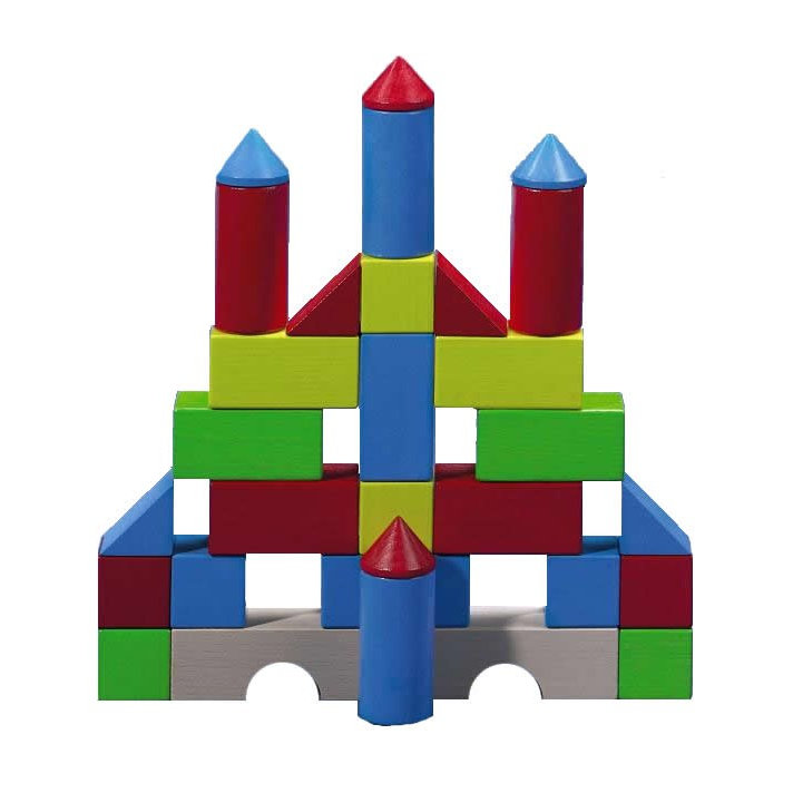 712x712 Colored Building Blocks Set