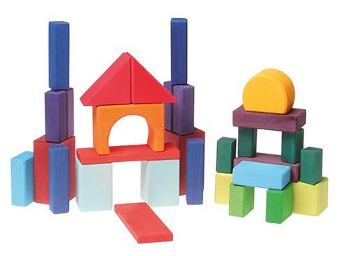 490x368 Grimms 30 Piece Coloured Building Block Set Little Greenie Eco Toys