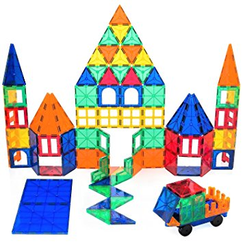 355x355 Playbees 100 Piece Magnetic Building Toy Building Blocks, Vivid