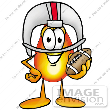 450x450 Clip Art Graphic Of A Fire Cartoon Character In A Helmet, Holding
