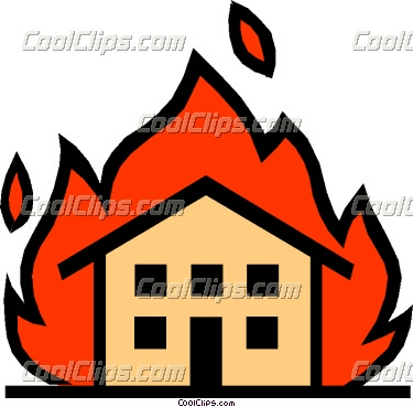 375x369 Fire Clipart Burning Building