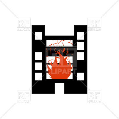 400x400 Fire In Building Royalty Free Vector Clip Art Image
