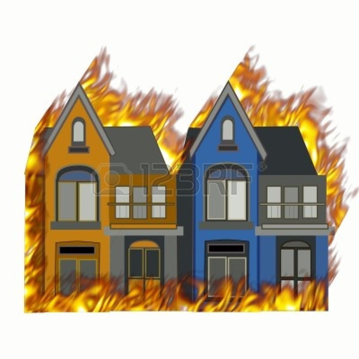 1200x1200 House Fire Free Clipart
