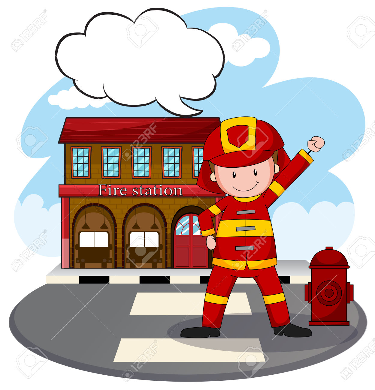 1249x1300 Building Clipart Firefighter