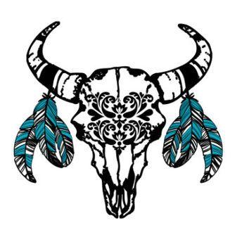 354x354 14 Best Bull Skull Tattoo Images Crafts, Creative